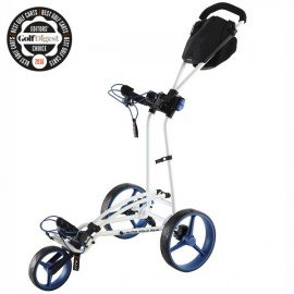 BIG MAX Autofold FF push trolley, golf digest award, white cobalt