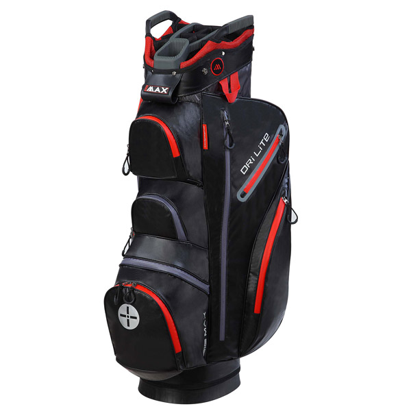 BIG MAX Dri LITE Cart Bag, Black-red