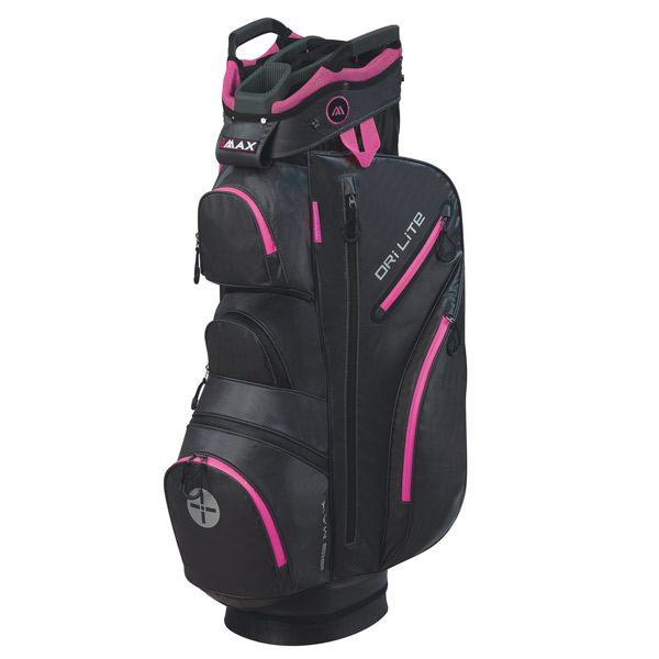 BIG MAX Dri LITE Cart Bag, Charcoal-black-fuchsia