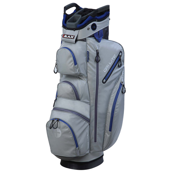 BIG MAX Dri LITE Cart Bag, Silver-cobalt