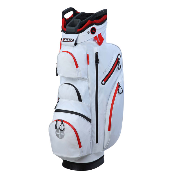 BIG MAX Dri LITE Cart Bag, White-red
